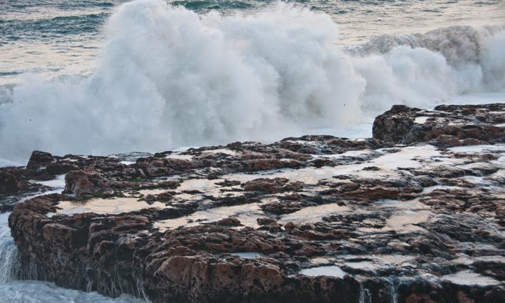 Alantic ocean in full force.
