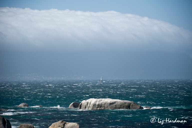 The Cape Doctor - the Sou'easter blasting through False Bay