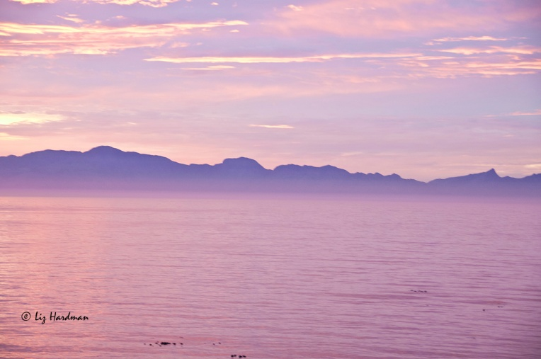 Sunrise over False Bay.