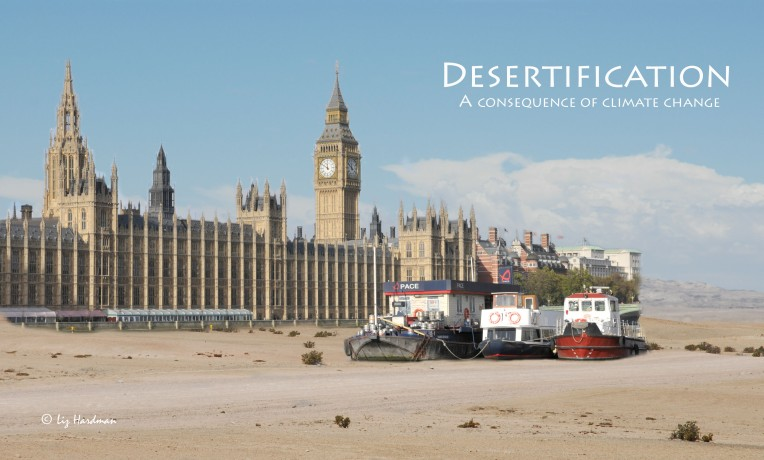 Westminster in the Thames desert.