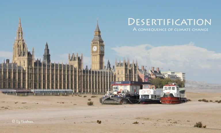 Westminster in the Thames desert.