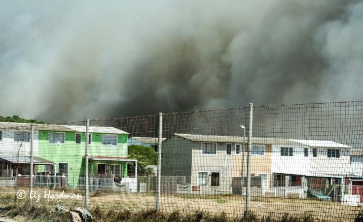 The fire advances into Ocean View.