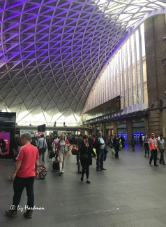 The soft lighting at King's Cross adds a seductive ambience to the busy concourse.