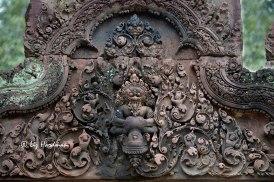 At Banteay Srei, Narasimba clawing Hiramyakasipu