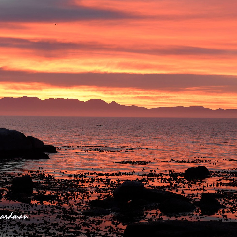 Sunrise over False Bay